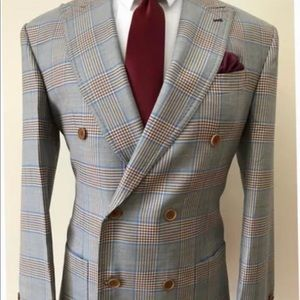 Other - Super 150 cerruti prince of Wales double breasted